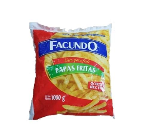 Imagen de PAPAS FRITAS CORTE RECTO FACUNDO 1000 GR.