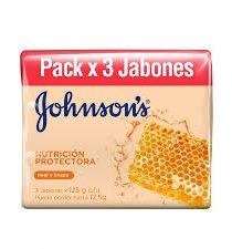 Imagen de JABON JONHSONS NUTRICION PROTECTORA X3 X125 GR