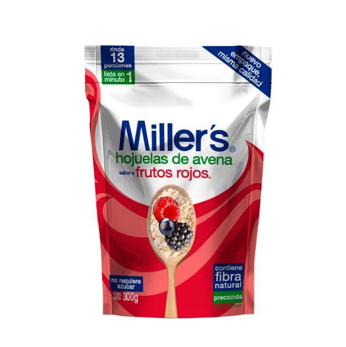 Imagen de MILLERS AVENA HOJUELA FRUTOS ROJOS 300 GR