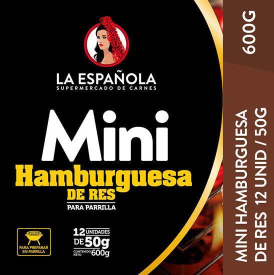 Imagen de MINI HAMBURGUESA ESPECIAL P/PARRILLA DE RES 600 GR