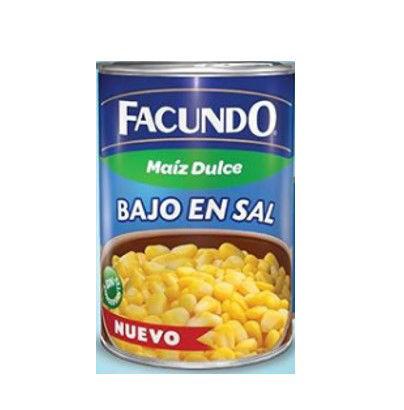 Imagen de MAIZ DULCE BAJO EN SAL FACUNDO 425 GR