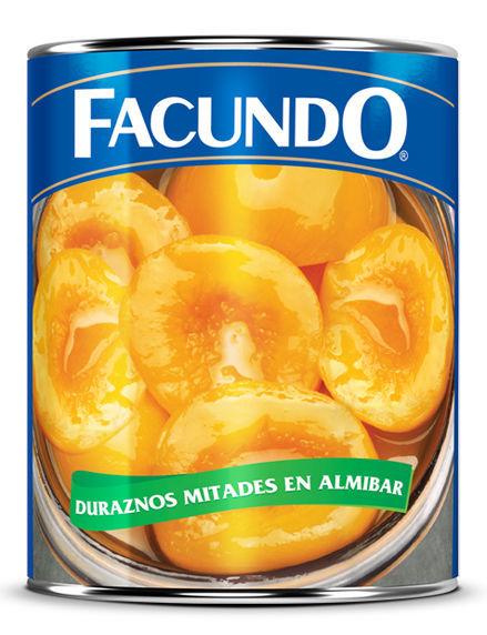 Imagen de DURAZNOS EN MITADES FACUNDO 400GR